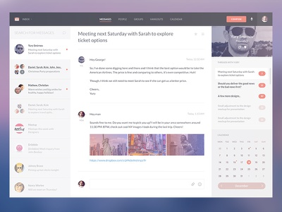 Reimagining Gmail gmail google concept design psd freebie download