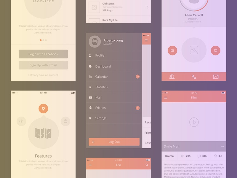 Free set of 100+ UX mockups for iPhone and iPad freebie psd download ipad iphone ios mockups free