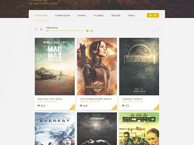 IMDb design concept favorites page landing filter search movies concept design imdb