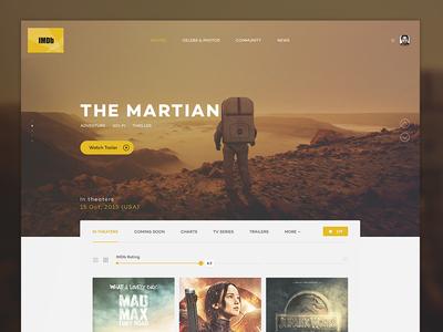 IMDb design concept