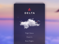 Delta flight app concept - splash screen