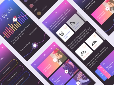 Personal Gym Assistant sleek interaction cards chat bot ui ux gym ai