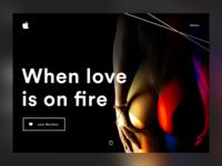Love is on fire by Apple