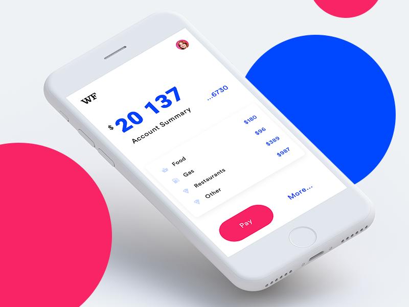 Simple Banking app ios app wells fargo banking bank simple white clean ui ux