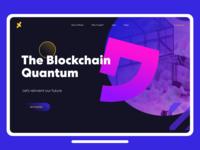 The Blockchain Quantum - landing page concept