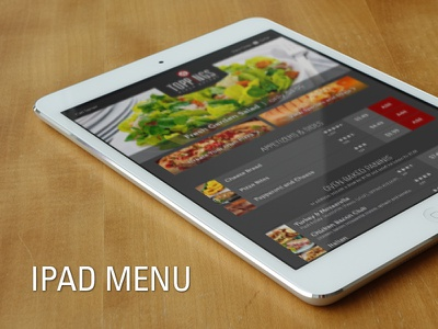 Restaurant Menu App ipad ios menu app restaurant food order interactive order