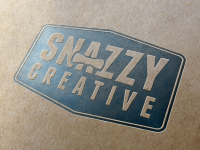 Snazzy logo letter press letterpress graphic design graphics print print design
