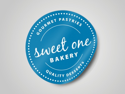 Sweet One Bakery Packaging Sticker sticker packaging bakery print