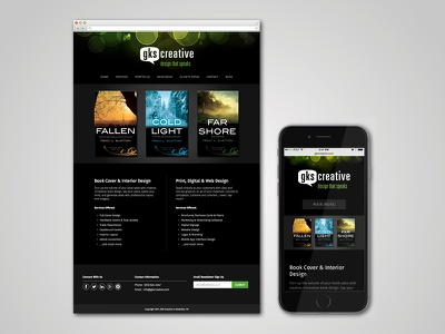GKS Creative Website web responsive dark interactive website