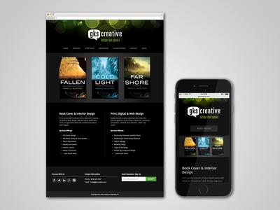 GKS Creative Website web responsive dark interactive website