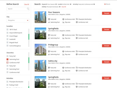 Search Listing Page