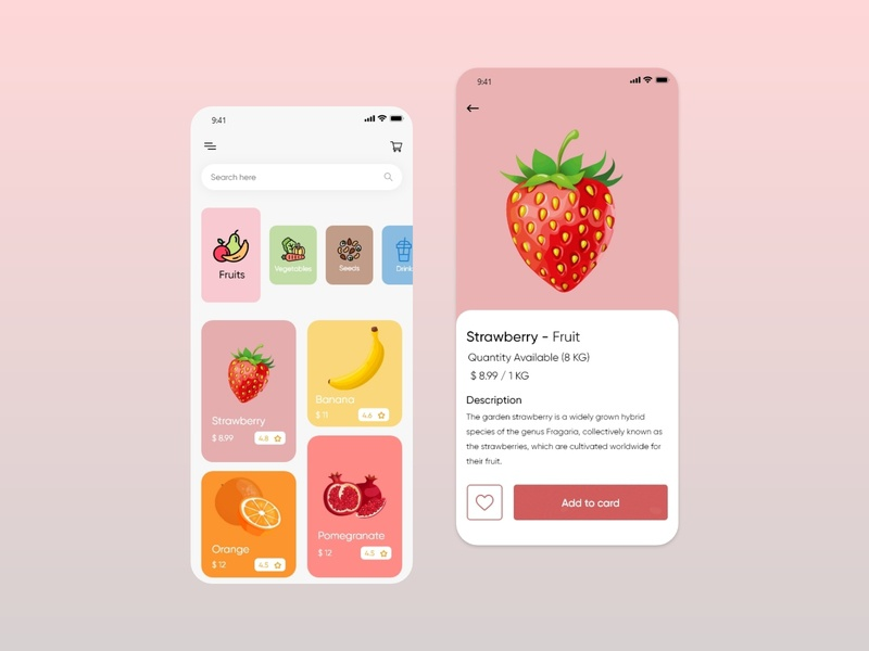 Food & Drink Ui Mobile Design