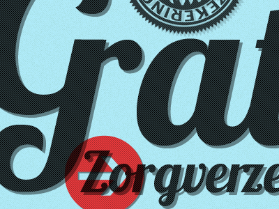 Gratis Zorgverzekering badge typography html5 css3 noise retro