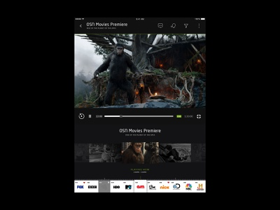 Etisalat eLife - Movie Portrait tv mobile devices planet of the apes streaming movies app premiere movies page digital design product design ios android user interface interface website web design ux ui app