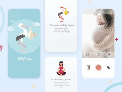 Belly Bump App ui ux android app ios app app designs app development company app development mobile app appschopper mobile app development