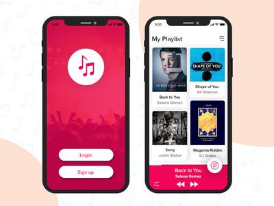 Music App iphone app design ios app design mobile app development mobile app experience mobile app design mobile app