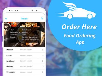 Order Here App Screen food ordering app android app development mobile app app development app development company mobile app development