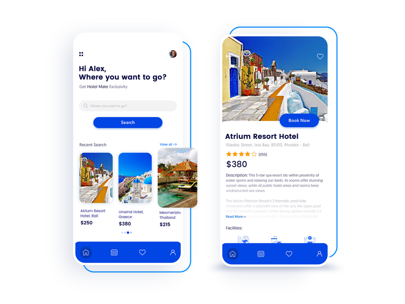 Hotel App Design ios app android app app development company mobile app development uidesign uxdesign uxui ux hotel booking hotel app destination app booking travel app ui designs appschopper app development app design app