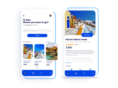 Hotel App Design ios app android app app development company mobile app development uidesign uxdesign uxui ux hotel booking hotel app destination app booking travel app ui designs appschopper app development app design app
