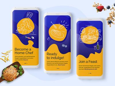Food Event App recipe app ordering meals dish design app ux ui ios app android app app development designs appschopper mobile app food orders food app