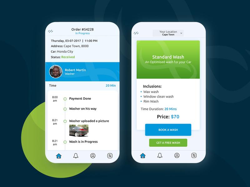 Shammy Car Wash car washing app ux android app ios app app designs app development company app development mobile app appschopper mobile app development