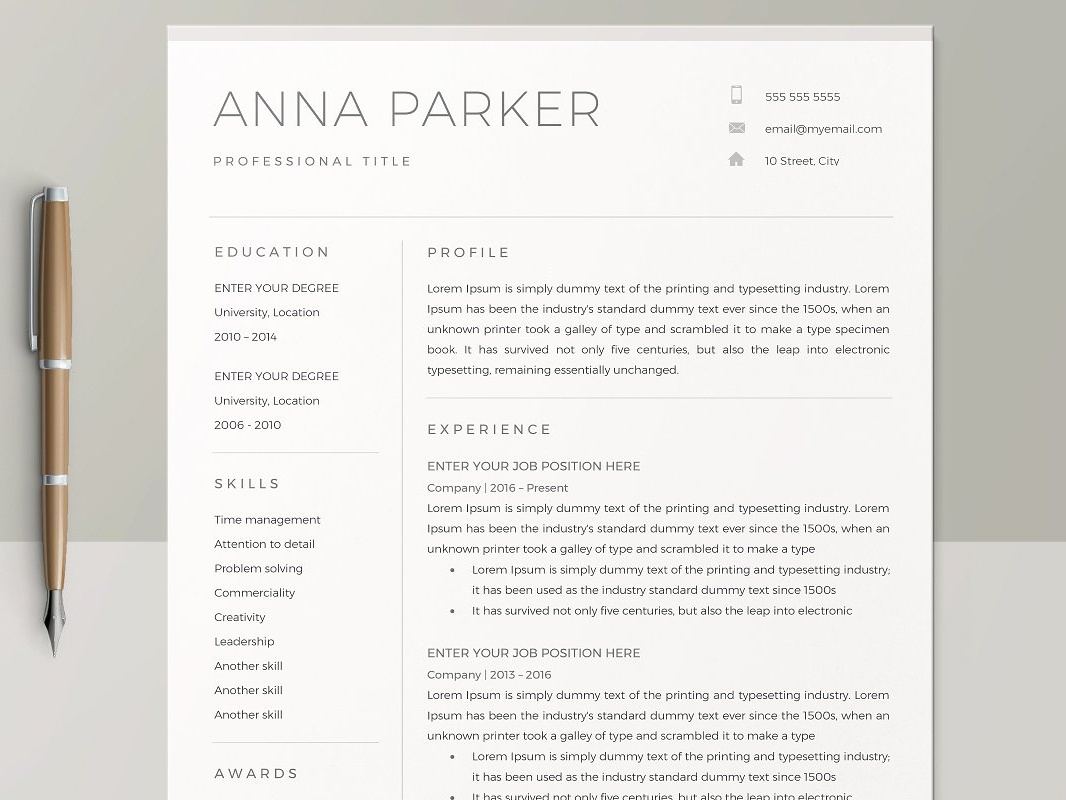 Resume Templates By Anda Lia On Dribbble