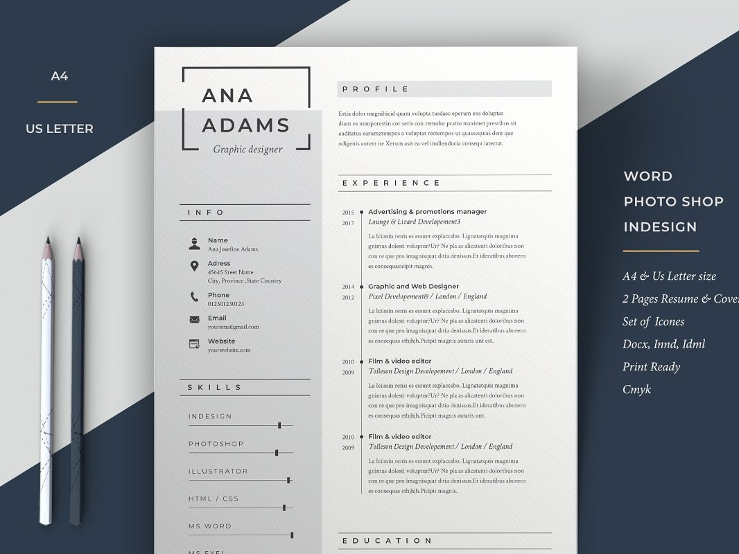 Cv Template For Word By Anda Lia On Dribbble