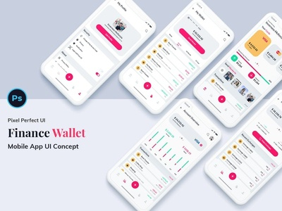 Finance Wallet Mobile App Ui Kit Light Version
