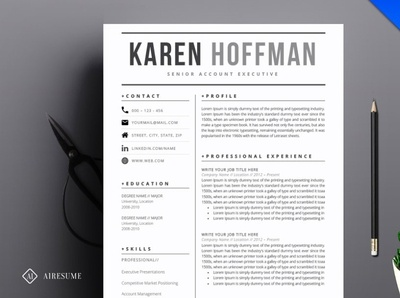 Simple Resume Template Designs Themes Templates And Downloadable Graphic Elements On Dribbble