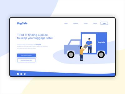 BagSafe - Website Concept Design