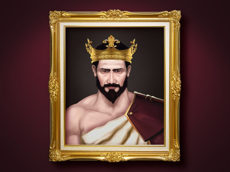 My digital painting king character