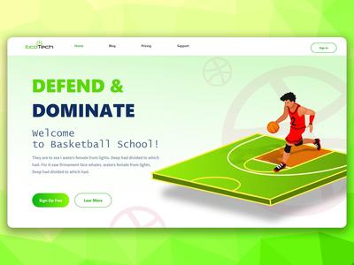 Basketball web design