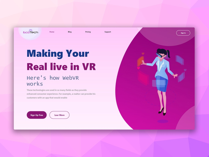 Real live in VR website