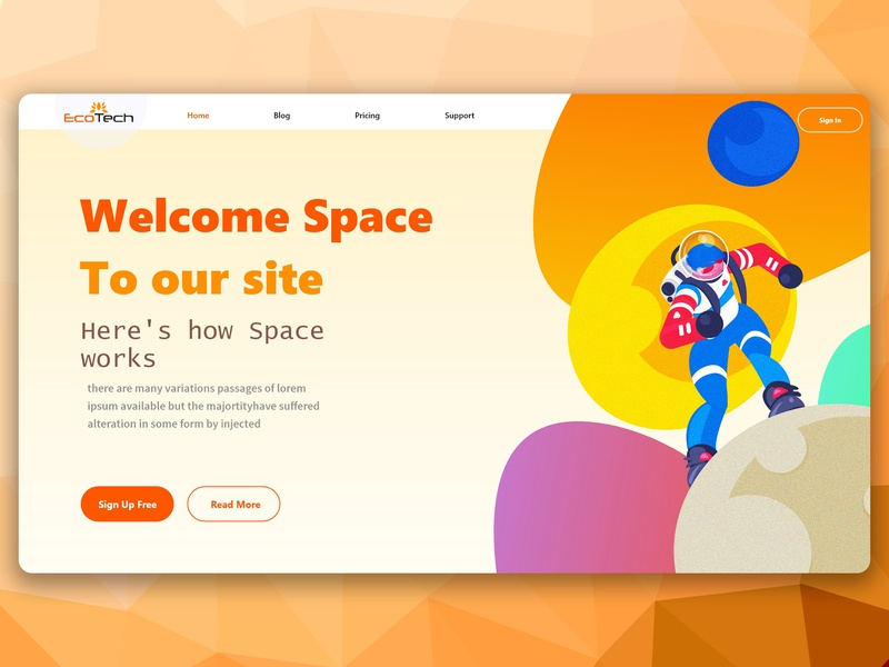welcome Space web