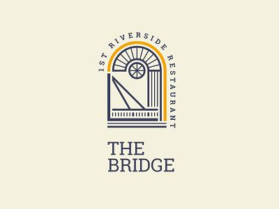 THE BRIDGE RESTAURANT | Logo redesing proposal concept personalized unique new original river restaurant bridge badge vector illustration minimal logo identity graphic design design creative branding