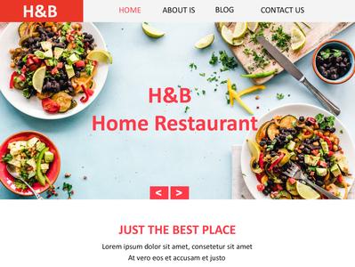 Home Restaurant Site Design