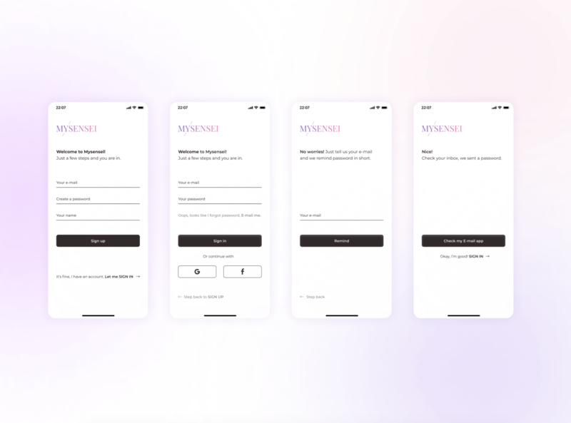 Mysensei signup and signin form #dailyui dailyuichallenge dailyui001 dailyui thankyoubiarritz avfromkyiv signin signup