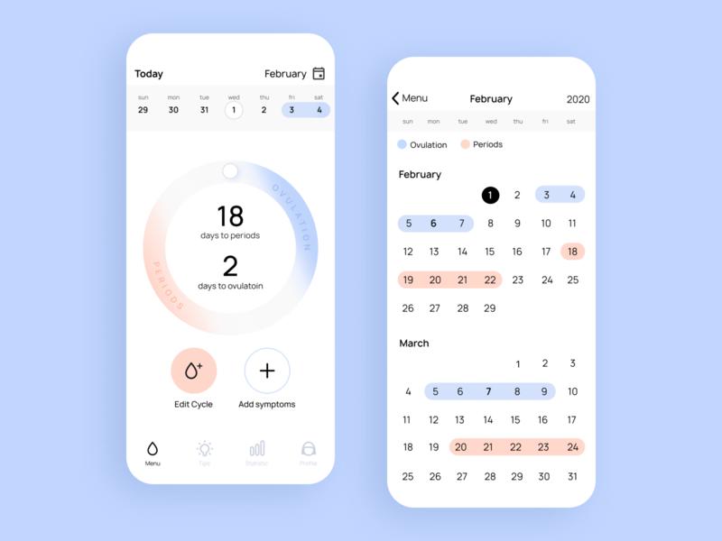 Periods tracker app