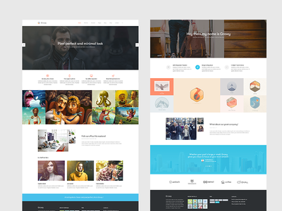 Growy - Multi-purpose PSD Template