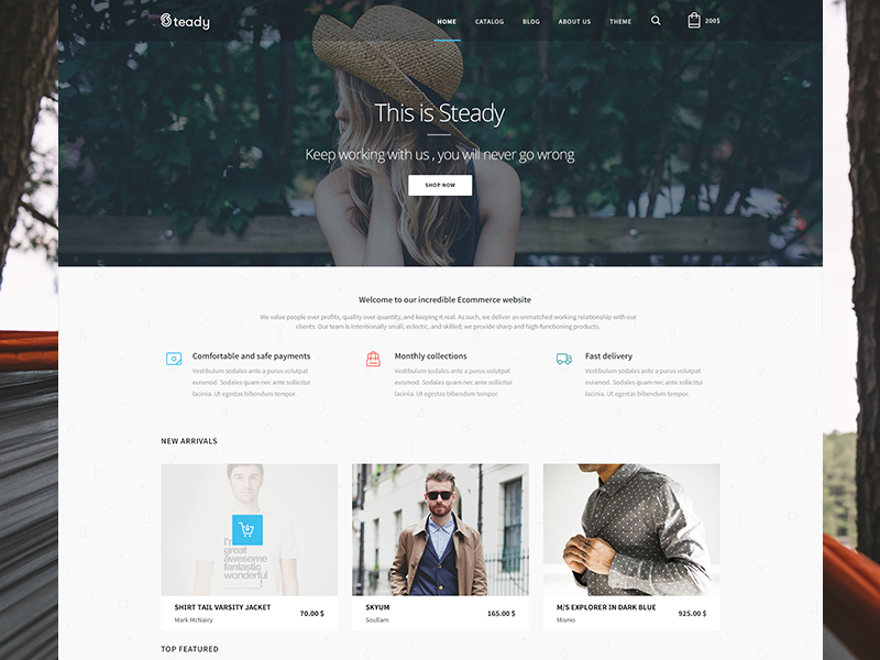 Upcoming Ecommerce Client Template