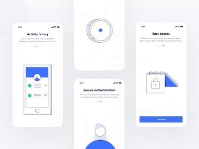 Lisk Mobile - Onboarding flat apps mobile application web simple icons icon interface ui