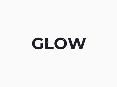 Ready, Set, Glow sparkle motion confetti after effects branding logo magic glow animation