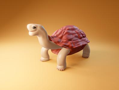 Day 8 - Old Turtle strange old tortoise character cartoon different concept clean design render blender 3d art 3d