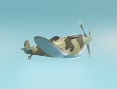 Day 10 - Spitfire spitfire plane concept art product design cartoon concept clean design render blender 3d art 3d