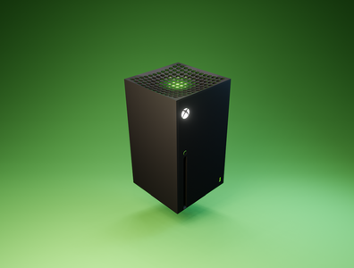 Day 17 - XBOX Series X console gaming microsoft xboxseriesx xbox product design branding design clean render blender 3d art 3d