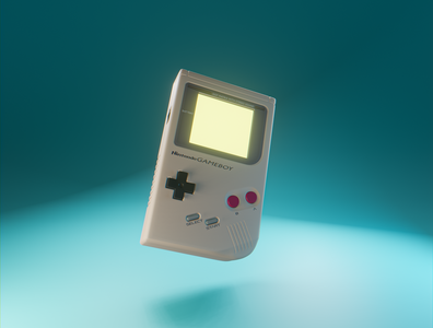 Day 25 - Original Gameboy original gameboy nintendo product design branding design clean render blender 3d art 3d