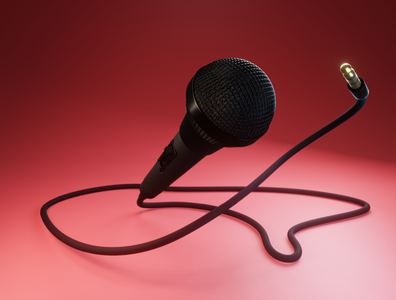 Day 31 - Microphone singing microphone different product design concept design clean render blender 3d art 3d