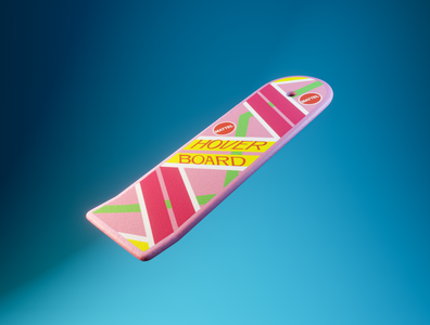 Day 33 - hover board back to the future backtothefuture bttf concept different product design branding design clean render blender 3d art 3d