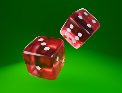 Day 42 - Try Your Luck luck dices gambling dice different branding product design concept design clean render blender 3d art 3d