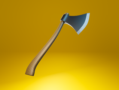 Day 44 - Axe stylised metal wood axe different product design concept design clean render blender 3d art 3d